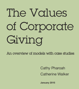 The Values of Corporate Giving cover