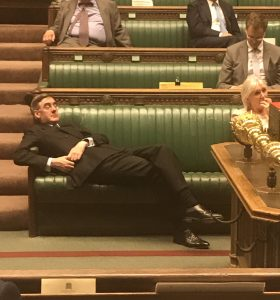 Rees Mogg slouching